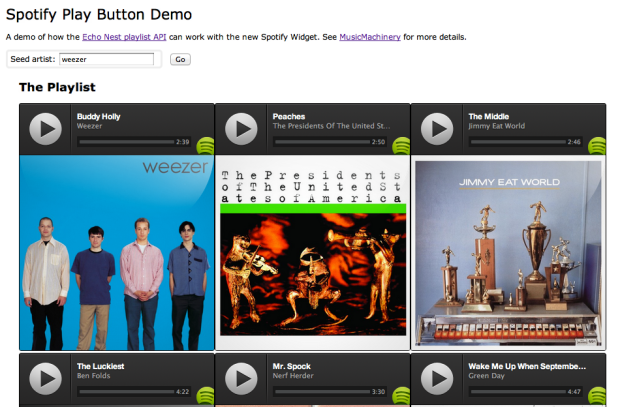 The Spotify Play Button – a lightening demo | Music Machinery