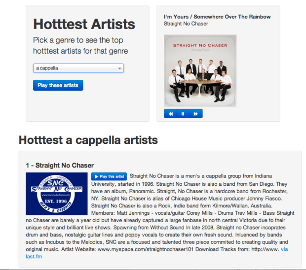 Getting the Hotttest Artists in any genre with The Echo Nest API