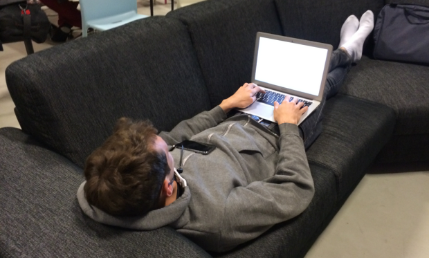 @sferik in a classic hacking position