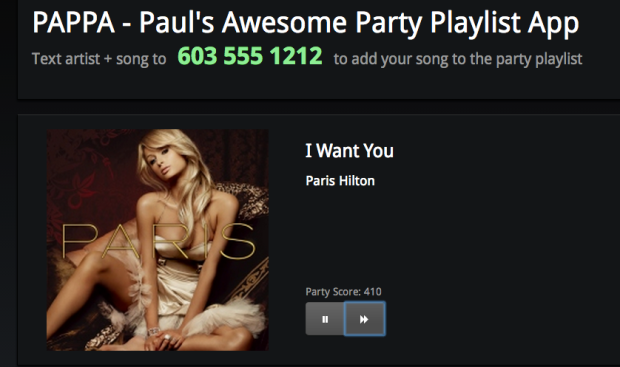 PAPPA - Paul's Awesome Party Playlisting App - Ruining parties since 2013