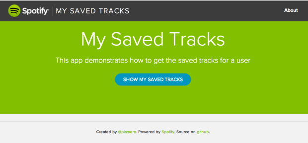 My Saved Tracks