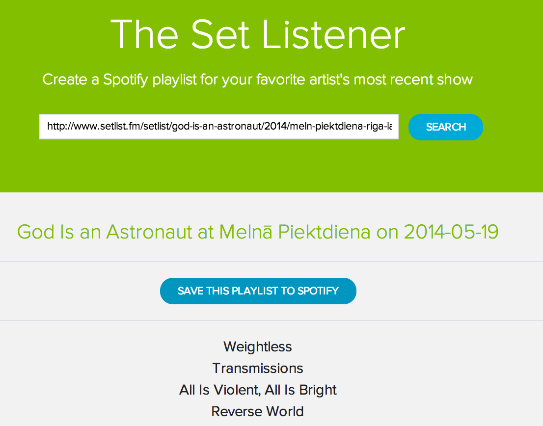 Set Listener update – now listen to specific shows in Spotify