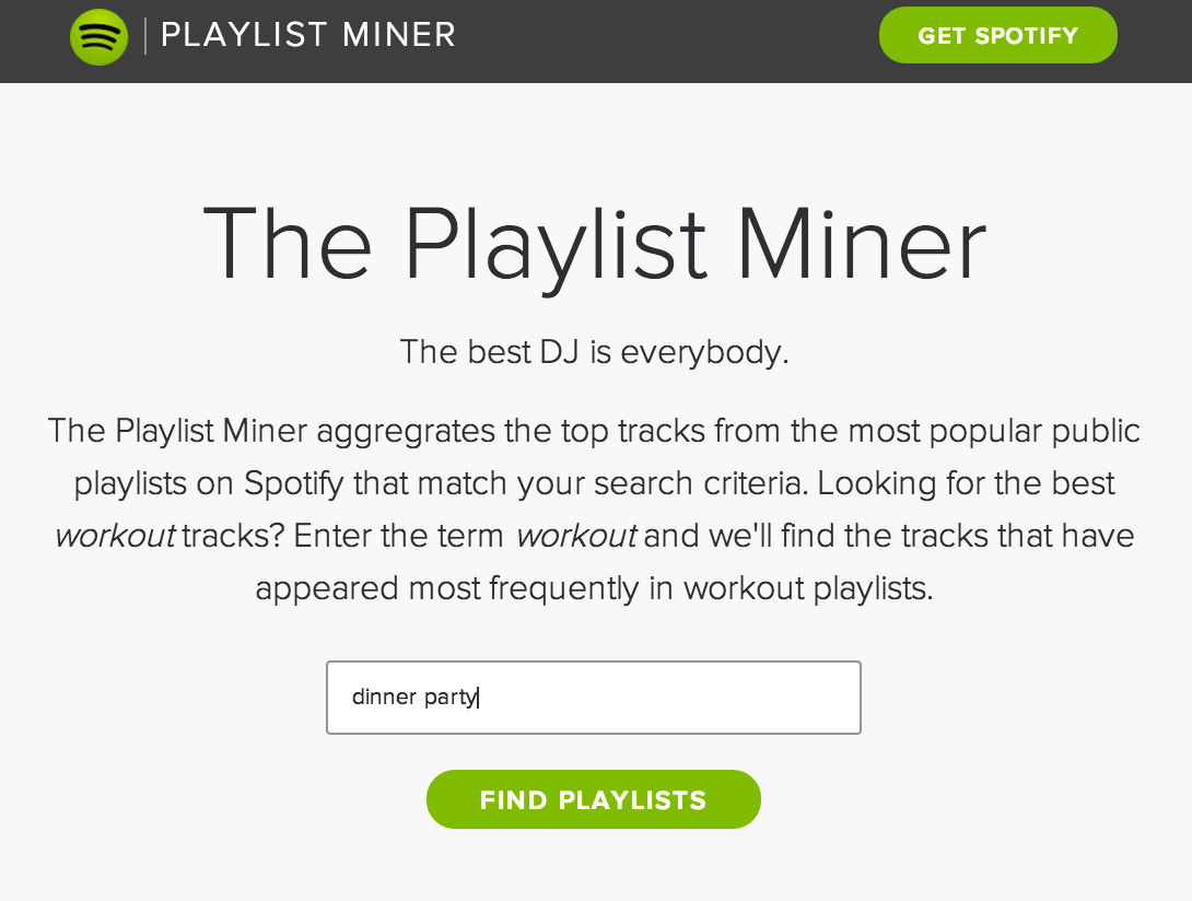 The Playlist Miner | Music Machinery
