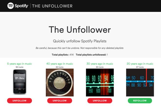 The Unfollower screenshot